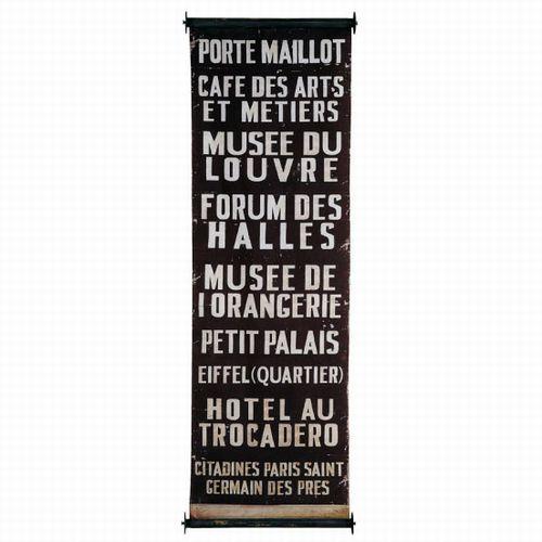 Paris metro banner